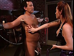 Big tits asian torturing a guy