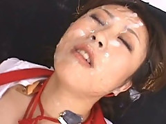 Asian Slut Nana becomes a Bukkake Angel